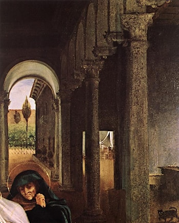 Christ Taking Leave of his Mother [detail: 1] by Lorenzo Lotto